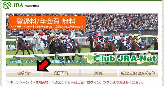 Club JRA-Netにログイン
