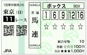 2019根岸S馬連馬券