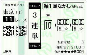 2019ダイヤモンドステークス馬券